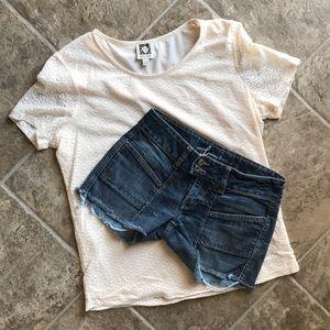 bebe NWOT JEANS Shorts Size 26